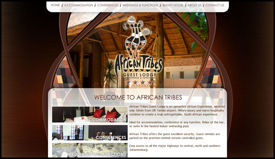 African Tribes Guest Lodge, home page