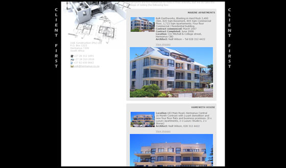 Usik Construction - Work History page