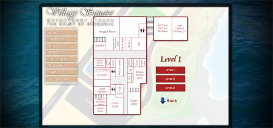 Interactive map - Village Square shopping Hermanus